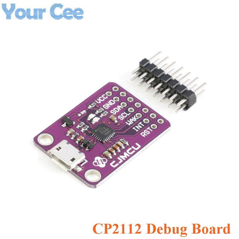 CP2112 depuración USB a SMBus I2C módulo de comunicación 2,0 MicroUSB 2112 Kit de evaluación para CCS811 Módulo de Sensor