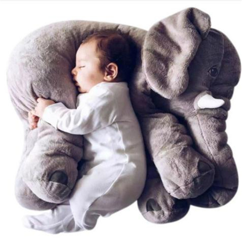 40/60cm Infant Soft Appease Elephant Playmate Calm Doll Baby Appease Toys Elephant Pillow Plush Toys Stuffed Doll  Xmas Gift
