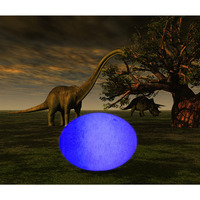 Creative 3D Print Dinosaur Egg LED Lamp USB Rechargeable Home Bedroom Night Light Decor Gifts
