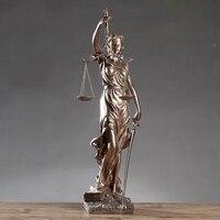 Винтаж справедливости ярмарка фигурка богини скульптуры дома Гостиная Аксессуары офисные закон офисы для украшения дома