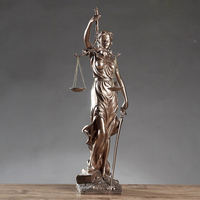 Vintage Justice Fair Goddess Figurine Sculptures Home Living Room Decorations Office Law Offices For Home Decoration