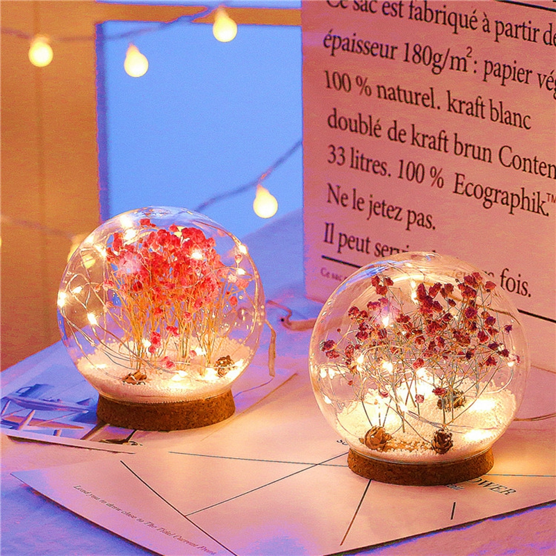 Creative LED Crystal Ball Design Table Lamp Room Decor Bedside Night Light For Girls Baby New Year Christmas Birthday Gift (7)