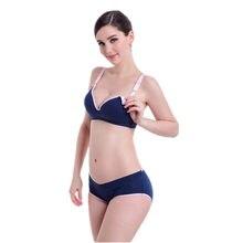8de553ae40 Maternity underwear bra+panties briefs wire free nursing bra pregnant women  sports sleep Breastfeeding Nurse