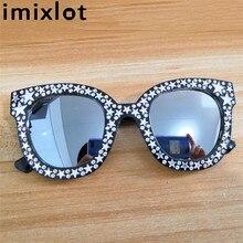 Imixlot 2018 Luxury Retro Sunglasses Women Crystal Cat
