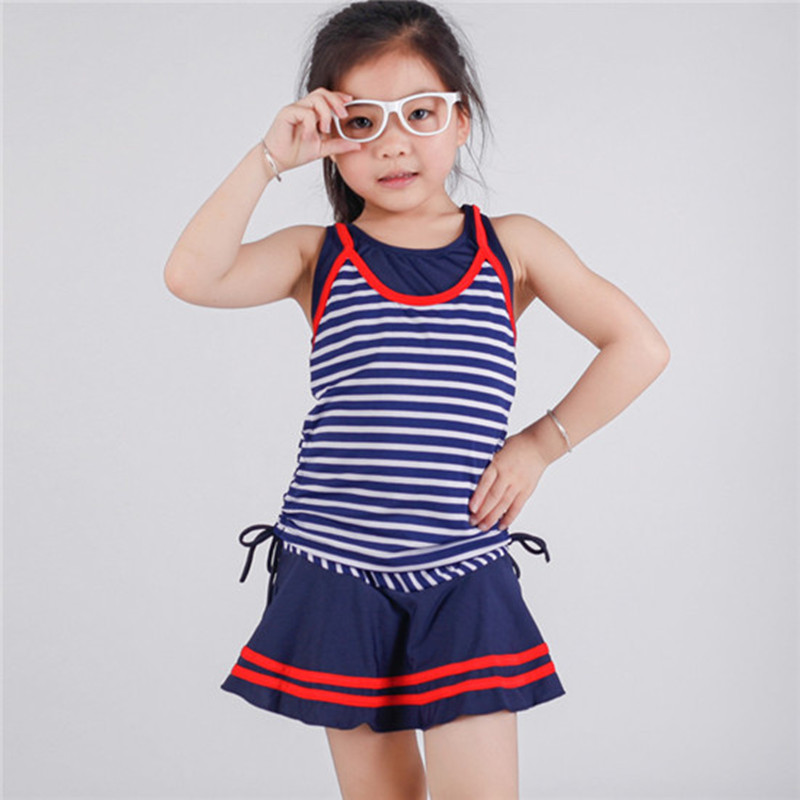 2016 girl two piece baby swimwear kids girls bikini ...