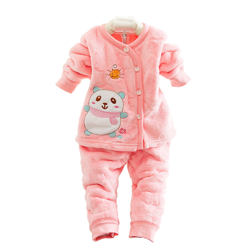 2016 Autumn Winter Newborn Baby Clothes Set 2PCS Cotton Baby Boy Clothes Winter Girl Baby Clothing Sets infant clothing