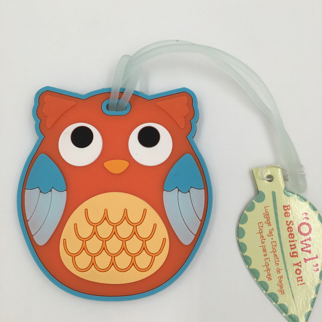 Free shipping New Fashion Honeymoon trip Travel Luggage Tag Owl