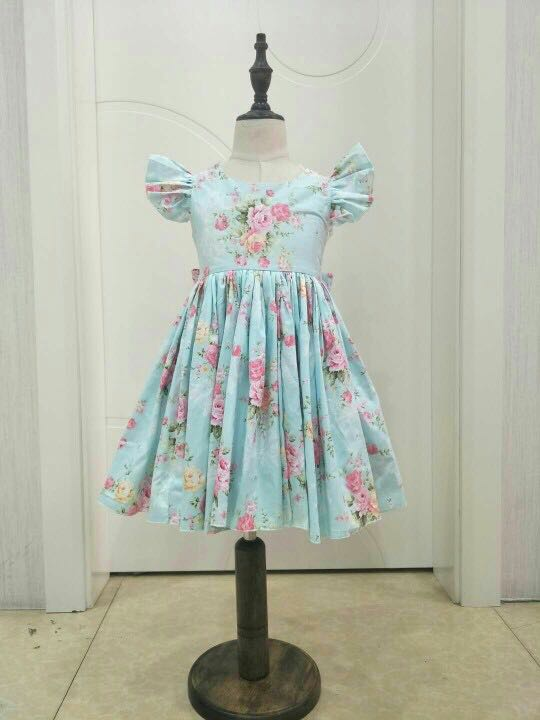 sleeveless wedding girls ball gowns summer flower print lace dress  Children s birthday party dress boutique dresses bb3e2153ecd0