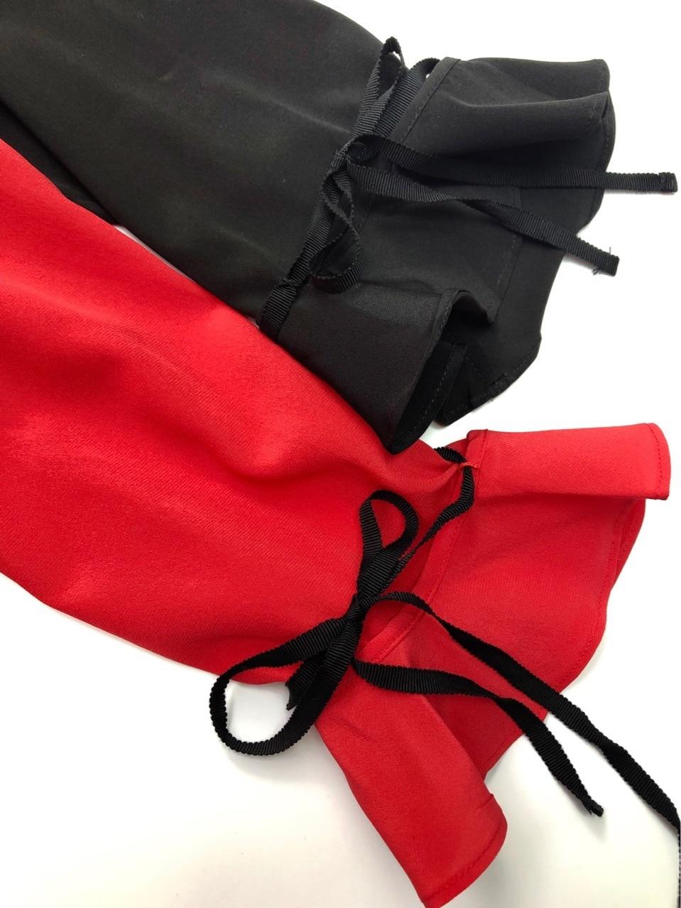 Tissu T En À Femmes shirt Bretelles Élastique Souple Soie Chemises Poignets Volants 1zannWq