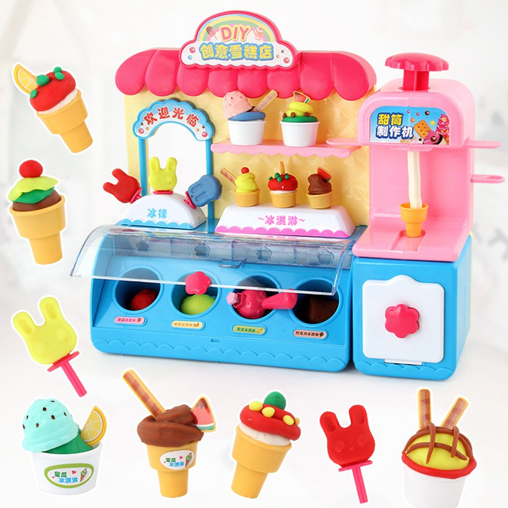 New Miniature Ice Cream Store Kitchen Food Cooking Toys Set Kids ...