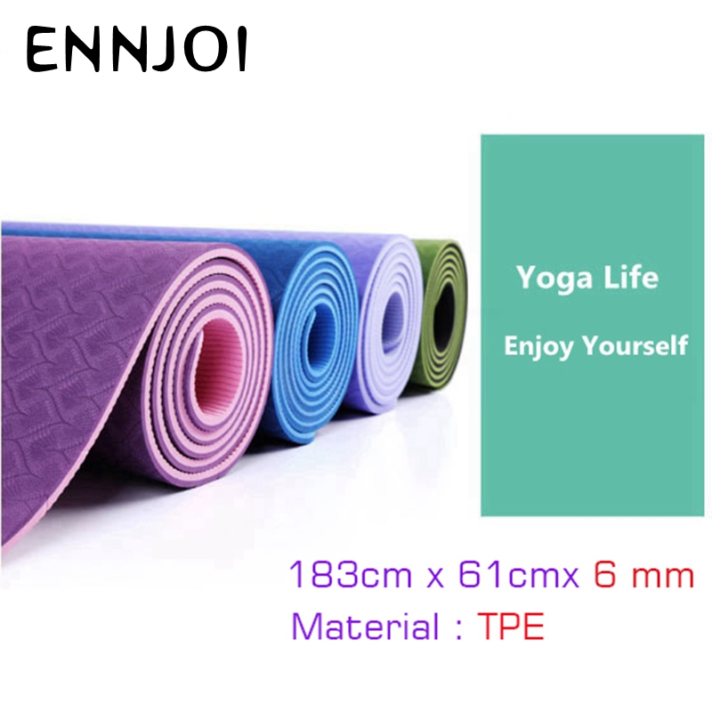 183x61cmx6mm Thick Yoga Mats Environmental Tasteless Lose Weight Exercise Pad Fitness Yoga Mats for Body Exercise