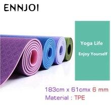 183x61cmx6mm толщиной коврики для йоги окружающей среды безвкусно похудения тренировочная площадка йога коврики для фитнеса и йоги тела упражнения
