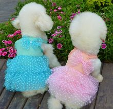 G12  NEW arrival Dog Dresses Summer Pet skirt Dress Teddy Chiffon  Dress For Dogs Pet Clothes