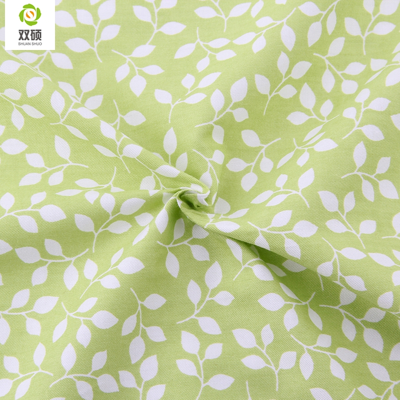 Green color cotton fabric kids curtains tissu sewing telas for Fabrics for children s curtains