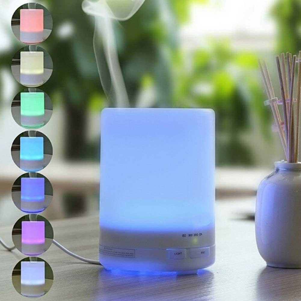 Mini USB Cute Air Humidifier Silent Ultrasonic Diffuser Mist Maker Colorful Changing LED Night Light for Home Office Car in Humidifiers from Home Appliances