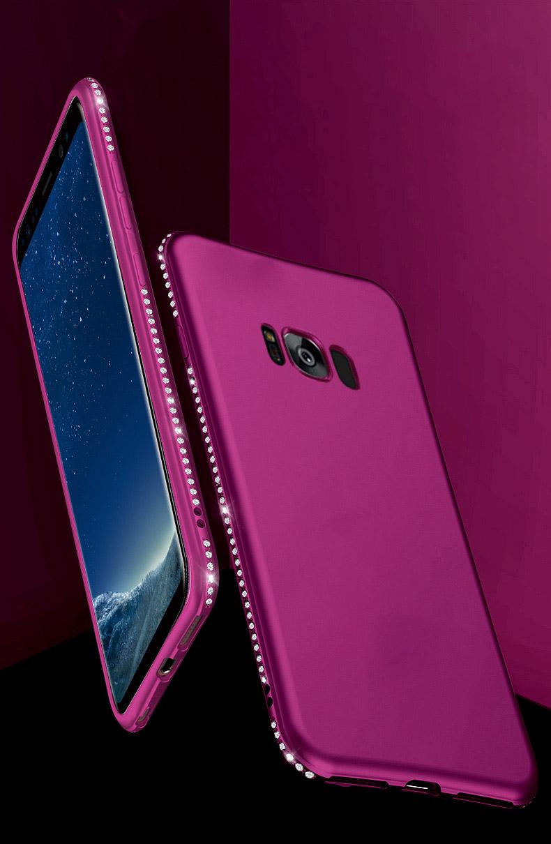 Diamond Samsung Galaxy S8 Plus S8 S7 S7 Edge S9 Plus Rhinestones Cute Soft Silicone For Iphonex 6S 78 Pluscover