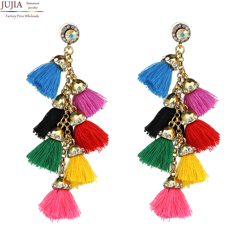 Hot sale New FIRENZE FRINGE DROPS earrings fashion women statement dangle T Earrings for women