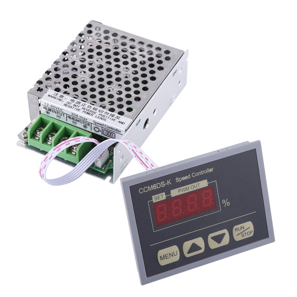 Electrical Equipments & Supplies Lovely 50pcs Dc6-60v 30a Digital Display 0~100% Adjustable Drive Module Pwm Dc Motor Speed Controller With Case Up-To-Date Styling