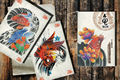 Wholesale - Free Shipping A4 Colorful Koi Fish Tattoo Sketch Book 78 Pages tattoo supply