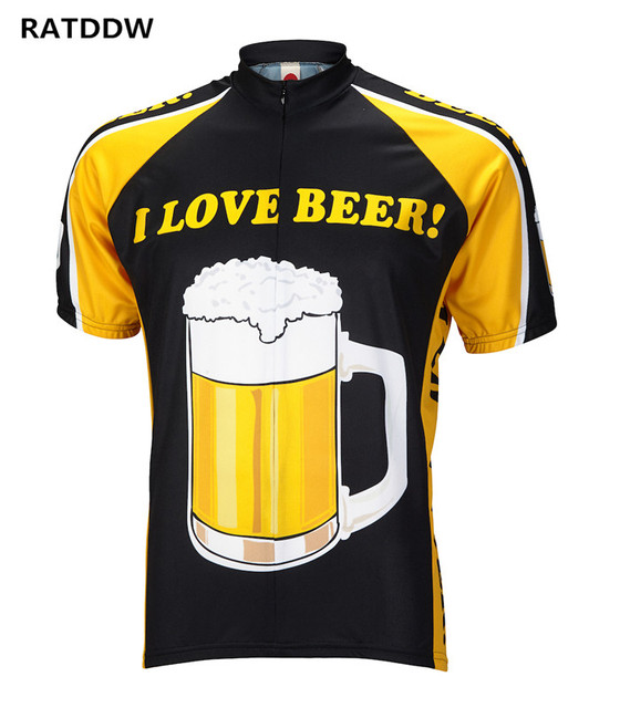 Beer Men s Champ Cycling Jersey Roupa Ciclismo Breathable Bike Bicycle  Cycling Clothing Quick-Dry Bike Clothes Sportwear 99f7830ec
