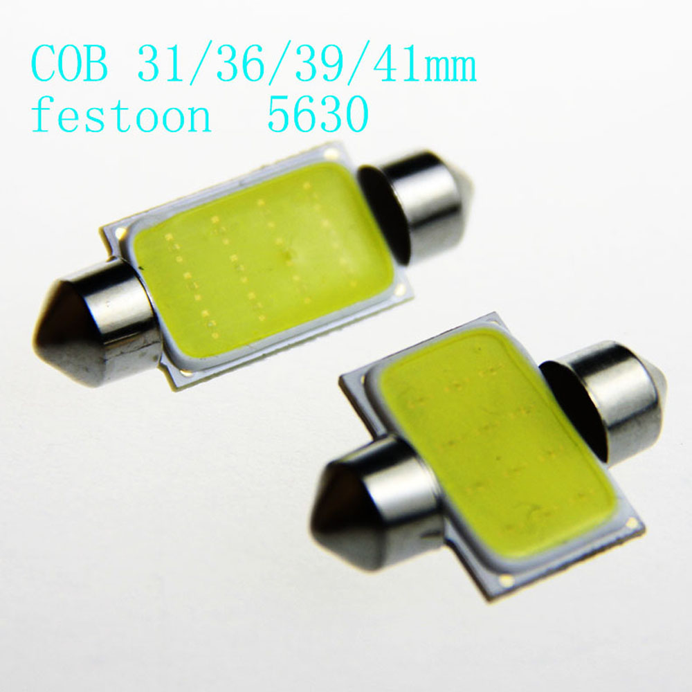 10pcs 31mm 36mm 39mm 41mm COB Dome Festoon LED CarC5W DC12V Led Dome Festoon Reading Lighting COB 12 Chips Auto Car Light Lamp cn360 2pcs extremely bright canbus error free 31mm 36mm 39mm 41mm festoon dome c5w car led light bulb