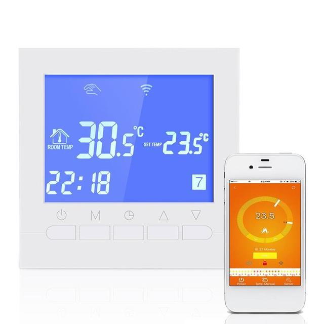 Wifi Thermostat Smart LCD Touch Screen Room Underfloor Heating Digital Wireless Temperature Controller Thermoregulator