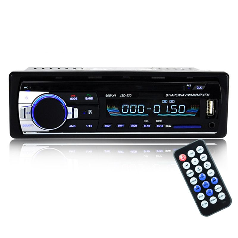 1 Set Bluetooth JSD-520 Autoradio DC 12V Car Radio Stereo Player Phone AUX-IN MP3 FM/USB/Radio Player Remote Control image