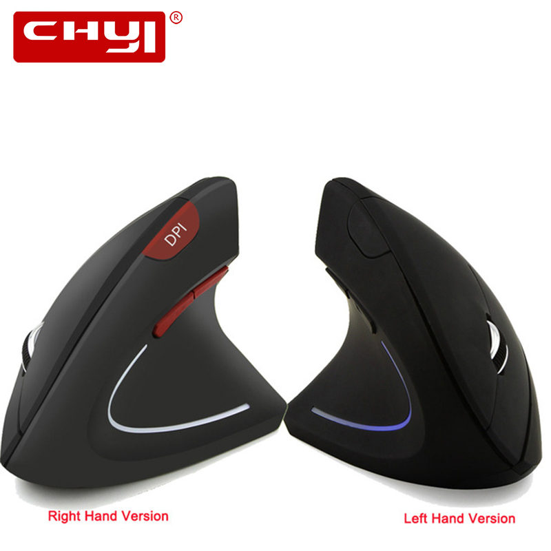 Wireless Right/Left handed Mouse Ergonomic Vertical Gaming Mause 1600DPI Optical USB Computer Mice With Mouse Pad For PC Laptop|Mice| |  -