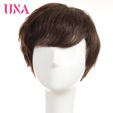 UNA Human Hair Wigs For Women Non-Remy 150% Density Brazilian Straight Wig 6