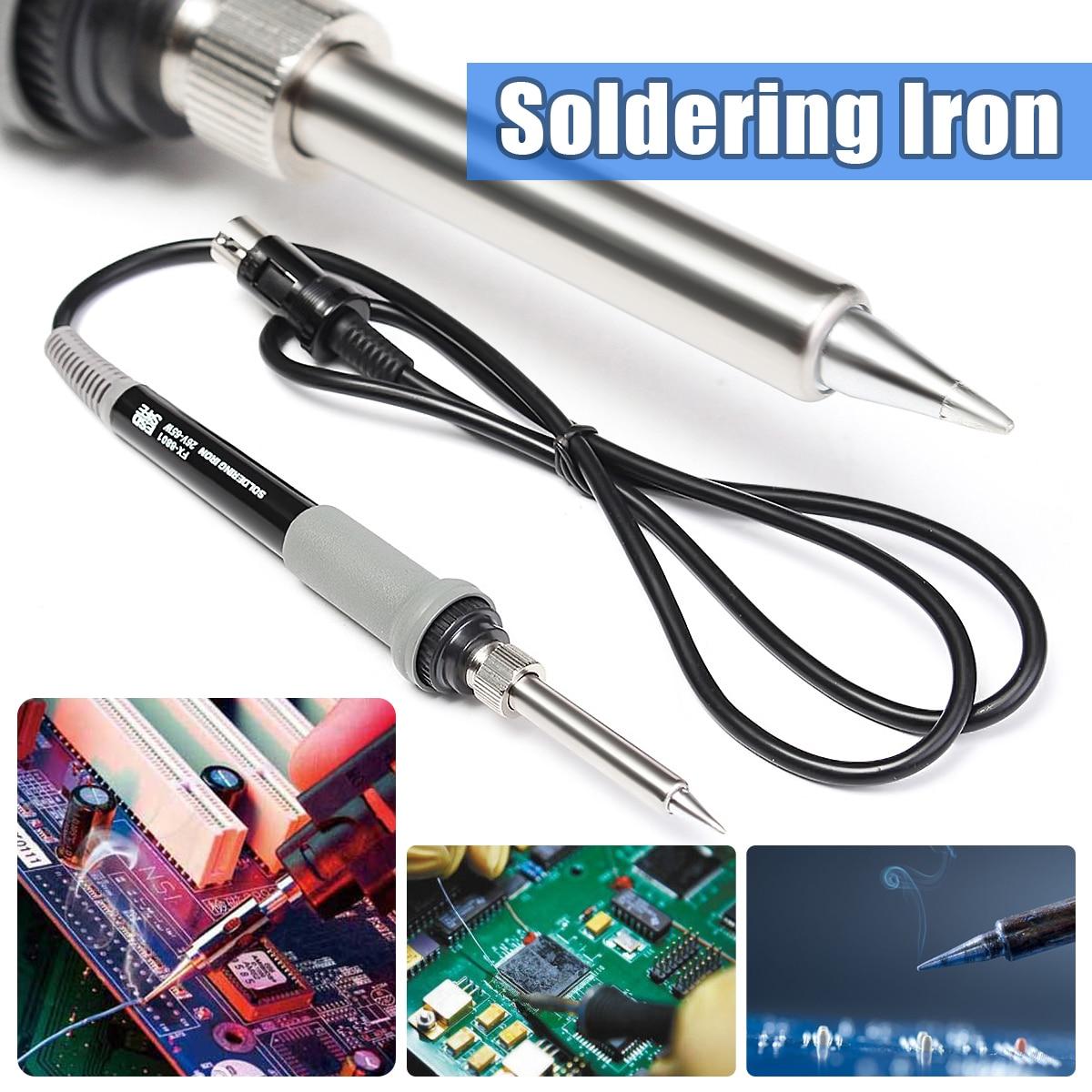 1PC Soldering Iron Handle Station 6Pin For HAKKO FX-888 FX-888D FX-8801 Soldering Working hakko fx 888d safe soldering station soldering iron esd safe 220v
