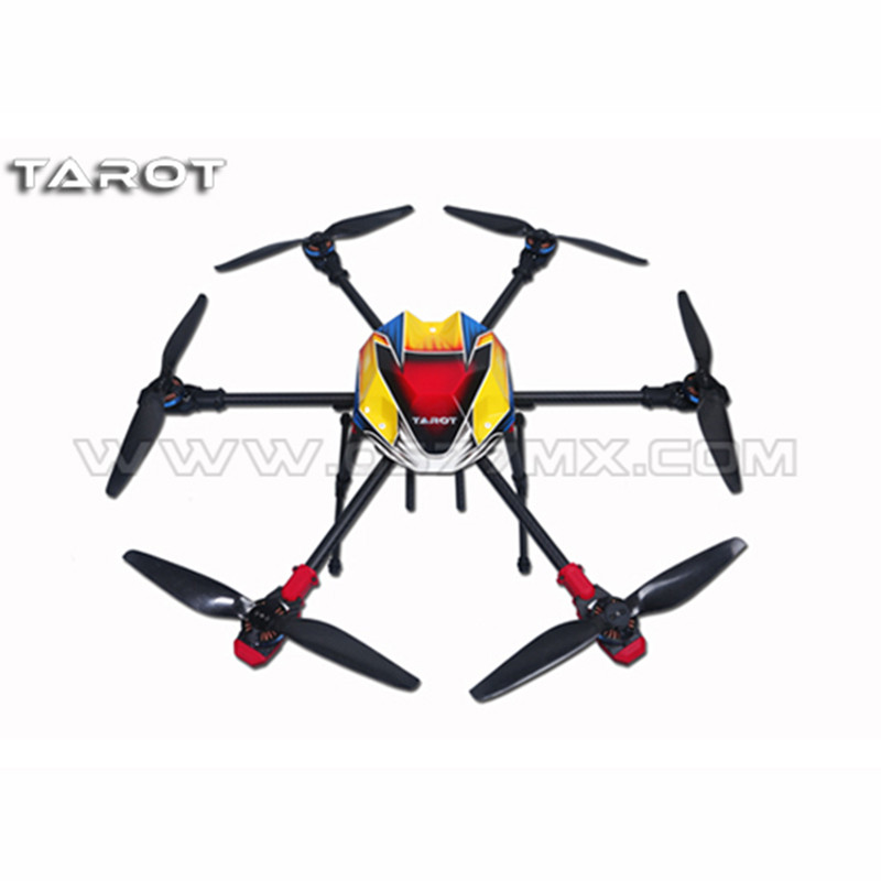 Tarot-RC 680Pro 3K Pure Full Folding Carbon Fiber Hexacopter 680mm FPV Aircraft Frame w/ Landing Skid Kit TL68P00 tarot rc 75 degree all metal cnc large scale electric retractable landing gear skid tripod load 30kg tarot tl4n004 diy drone
