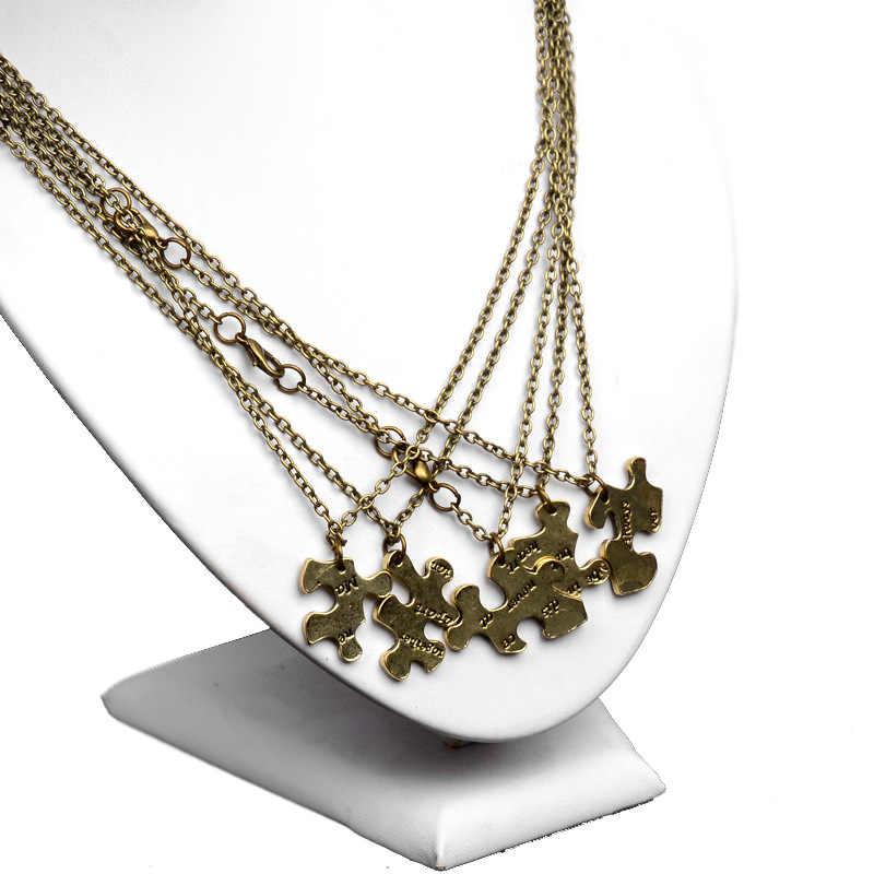 Модные Винтаж Jewelry Best друзья Сращивание Нерегулярные Цепочки и ожерелья 4 шт. Геометрия междугородние BFF Best друзья навсегда Ожерелья