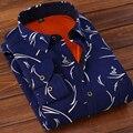Brand New Мужские Деловых Рубашки Хлопка Вскользь Уменьшают С Длинным Рукавом Толстая Мода Рубашки Социальной Плюс Размер Мужчины Рубашка MT131