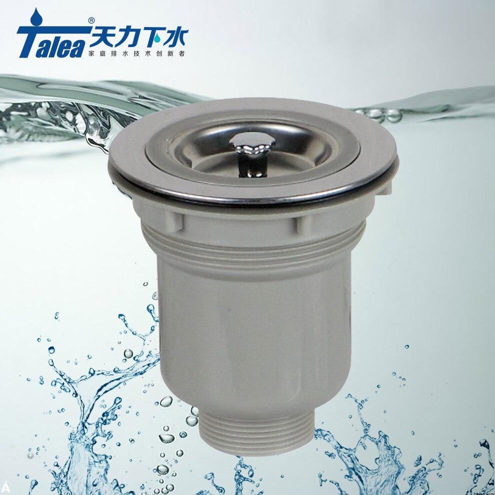 Talea 114 milímetros de Aço Inoxidável Coador Pia Da Cozinha cesta do filtro para evitar afundar Coador Ralo da pia waster lixo