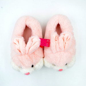 Image 3 - Millffy lovely pink rabbit plush winter warm velvet slippers comfortable indoor shoes hamster bunny slippers cat plush slippers