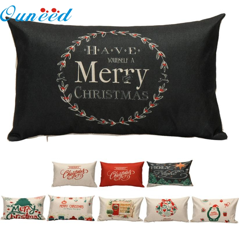 OC 12 Mosunx Business 2016 Hot Selling Drop Shipping Christmas Pillow Case Sofa Waist Throw ...