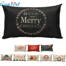 Фотография OC 12 Mosunx Business 2016 Hot Selling Drop Shipping Christmas Pillow Case Sofa Waist Throw Cushion Cover Home Decor