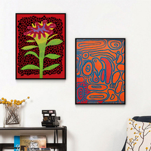Yayoies Kusamaer Cartoon Pumpkin Canvas Posters Prints Abstract Wall Art Painting Oil Decorative Picture Modern Home Decoration