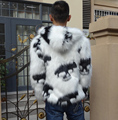 New arrival 2016 Winter Men Skulls Faux Fox Fur Coats Male Hooded Casual Plus Size Fur Jackets XXXL W831