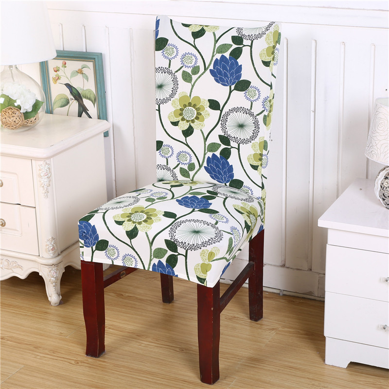 Chair Cover Flower Removable Washable Short Protector Super Fit Seat Covering Slipcover For Hotel Ceremony Dining