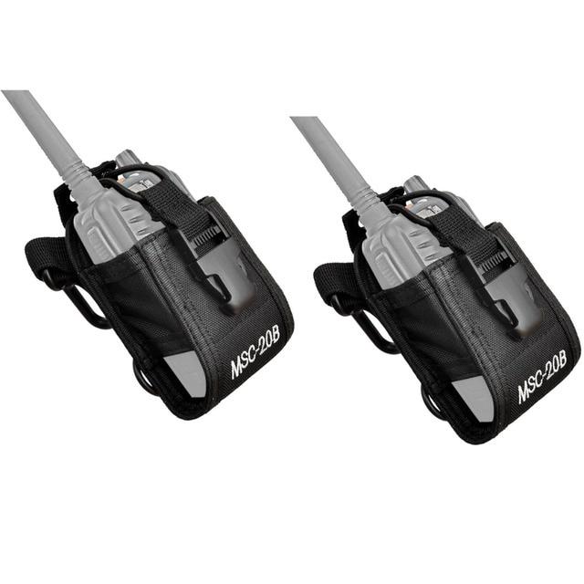 2pcs Multi-function Radio Case Holder for Kenwood for Yaesu for Motorola GP338 Baofeng BF-888S Retevis H777 Walkie Talkie J0067A