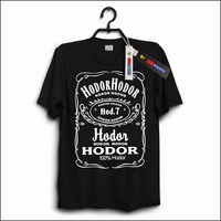 New T Shirt Tee Top Mens Funny Cotton Hodor Hodor Stark Game Of Thrones Print Clothing