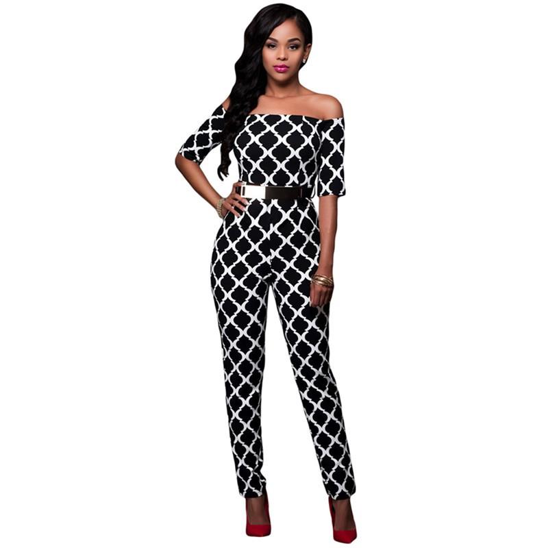 Monochrome-Print-Black-Belted-Off-Shoulder-Jumpsuit-LC64179-2