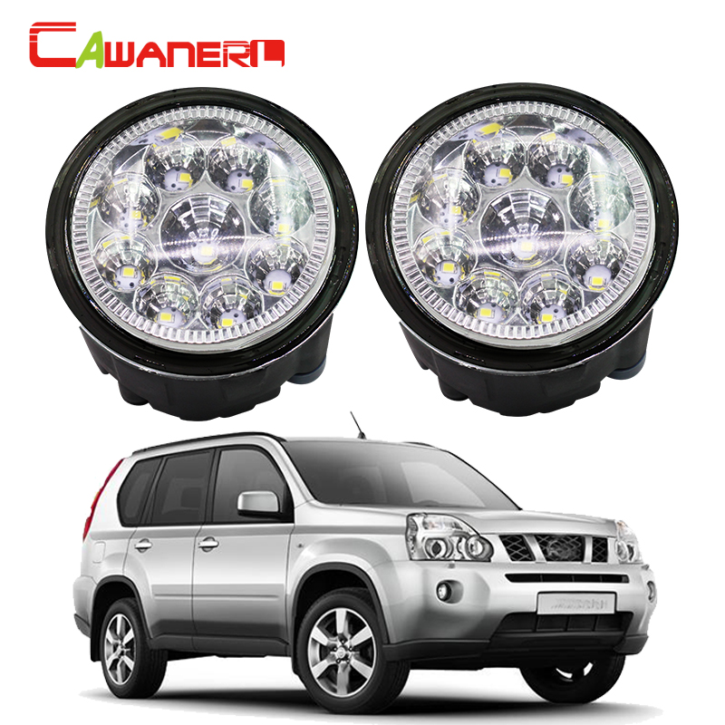 Cawanerl H8 H11 Car LED Light Fog Light Daytime Running Light 1 Pair For Nissan X-Trail (T31) Closed Off-Road Vehicle 2007-2013 2pcs for car styling fog lights nissan x trail t31 closed off road vehicle 2007 2014 halogen lamps 26150 8990b