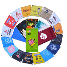 Cartoon Condom Shape Wet Wipes Tissue Individually Wrapped Aloe Essence Portable