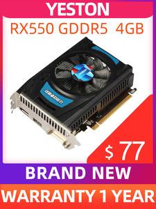 Yeston Graphics-Cards Computer Support Pc-Video Gaming Desktop GDDR5 Radeon Rx DVI-D/HDMI2.0B
