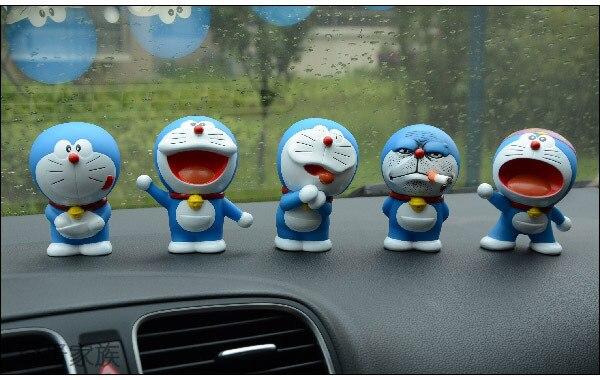 Velsete Hot 5 Pcs/lot Cute Dora A Dream Car Gadgets Dora A Dream Doraemon SA-69