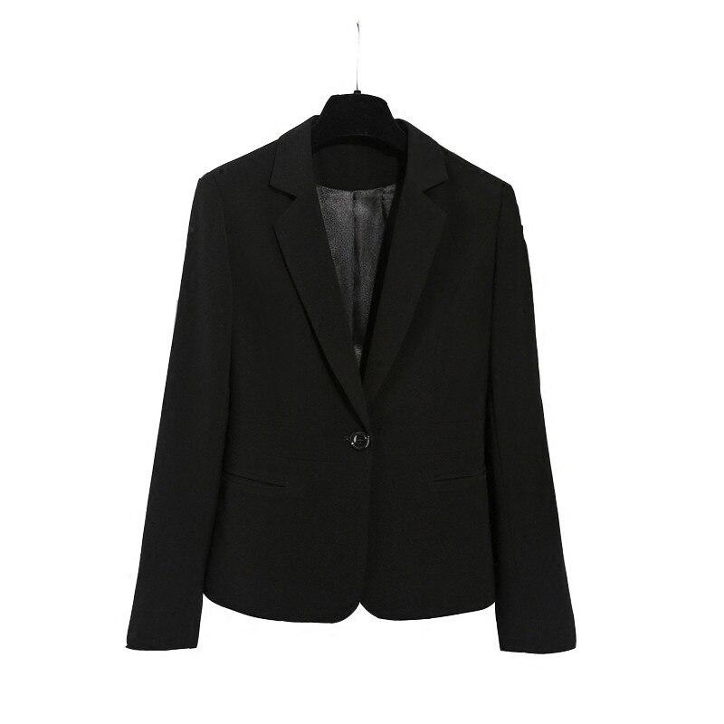 Black Femme C4534 Plus Manches À Veste Nouveau Dames Printemps Costume Manteaux Automne La Petit Noir Femmes Taille Court Élégant Blazer Longues qxnR1Zw4H