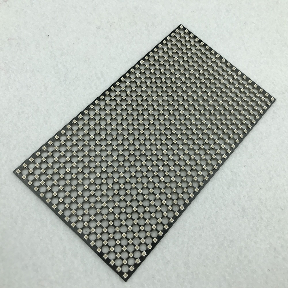 P5mm P9823F IC 2020 SMD 18 32pixels led addressable rigid panel light size 90mm 160mm DC5V