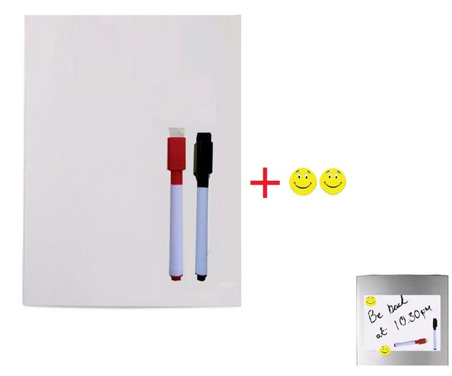 A4 Size Magnetic Whiteboard For Fridge 2 Marker Pens 2 Magnets Small Kitchen  Message Boards Writing